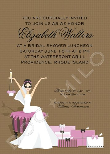glamour girl bridal shower invitation by doc milo