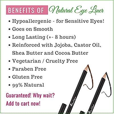 Better'n Ur Eyes Natural Eyeliner Pencil | Hypoallergenic & Great for Sensitive Eyes | Natural | Vegan | Certified Cruelty Free | Paraben Free | Gluten Free | Smooth Application | Long Lasting