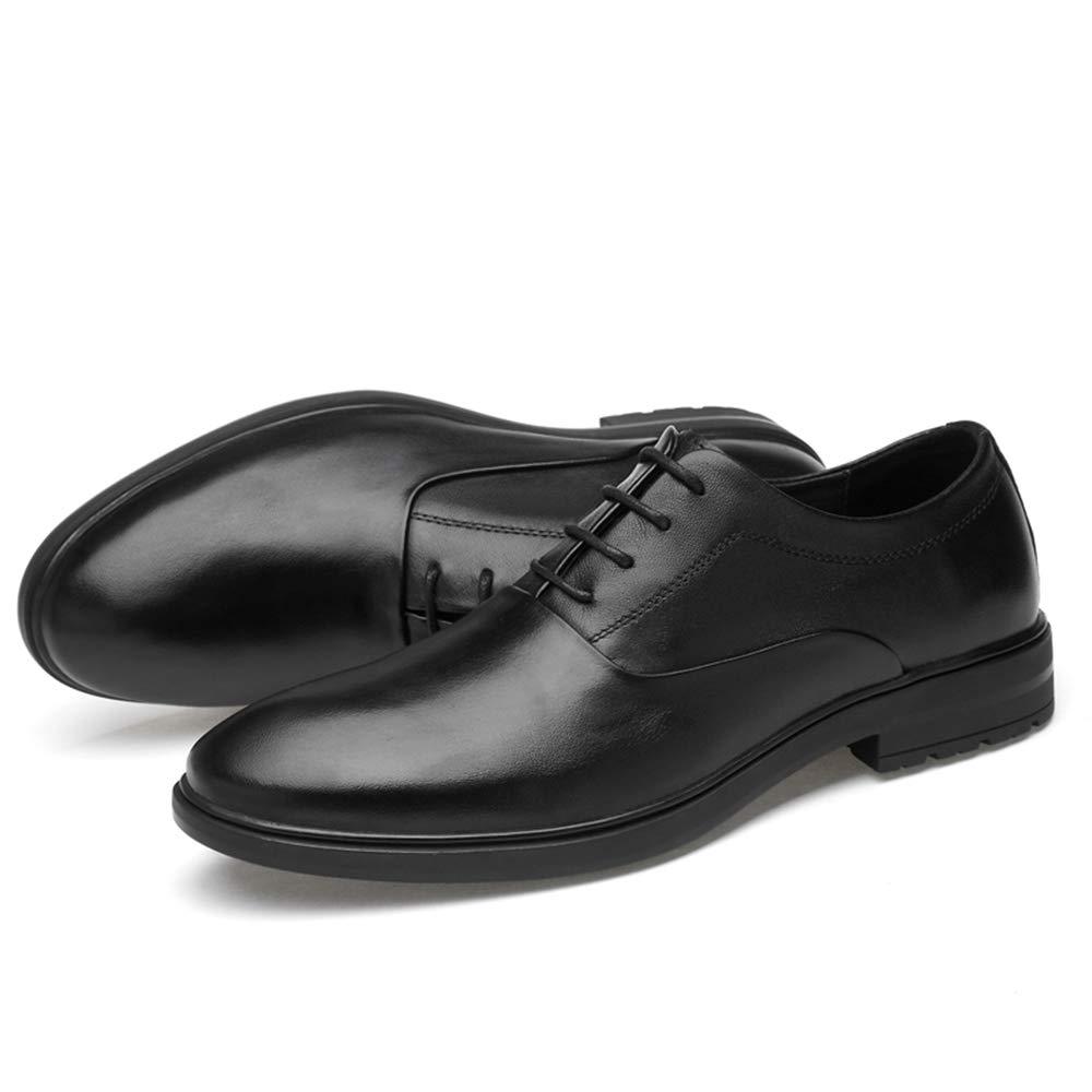Ofgcfbvxd Lässige Flache Schuhe Schuhe Schuhe für Männer Oxford lässig einfache Klassische einfarbige Schuhe (Slip On optional) Formelle Rutschfeste Schnürschuhe (Farbe   Slip On schwarz, Größe   44 EU) 6eb25d