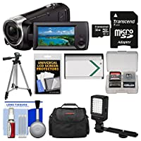 Sony Handycam HDR-CX440 8GB Wi-Fi 1080p HD Video Camera Camcorder with Card + Case + LED Light + Battery + Tripod + Kit