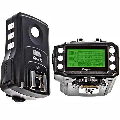 PIXEL King PRO Wireless E-TTL Flash Trigger Kit with LED Screen for Nikon by Pixel