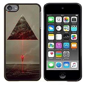 "Planetar® ( Futurista Spaceship Aliens Ufo Triángulo Laser"" ) iPod Touch 6 Fundas Cover Cubre Hard Case Cover"