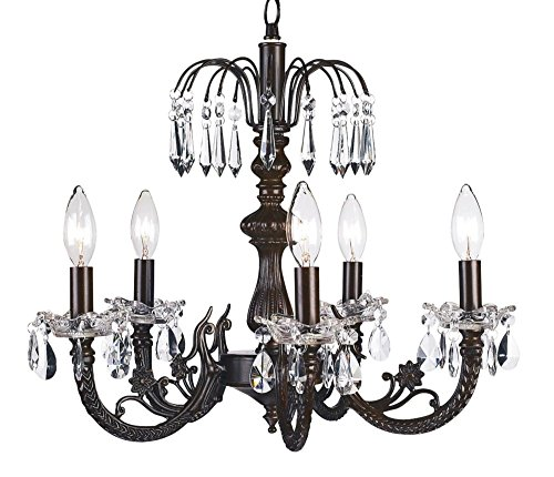 - Jubilee Collection 7043 5 Arm Water Fall Chandelier, Mocha