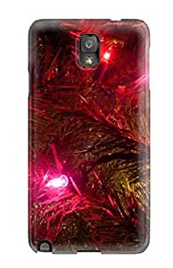 Galaxy Note 3 Case, Premium Protective Case With Awesome Look - Sad Little Christmas Red Yellow Blue Lights Xmas Santa Claus Holiday Christmas