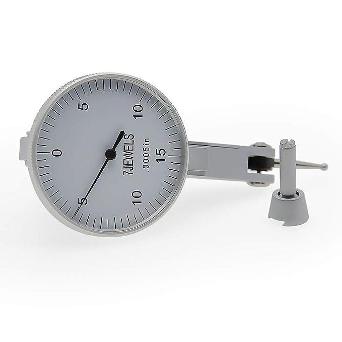 AMTAST Dial Test Indicator 7 Jewels Dial Indicator Gauge Range 0.03/'/'Graduation 0.0005/'/' 0-15-0 Scale