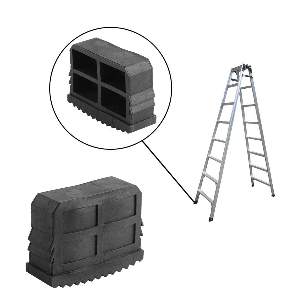 Acogedor Universal Rubber Feet/Ladder feet, Replacement Rubber Feet for Box Section Step & Extension Ladders (Pack of 2)