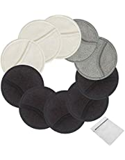 18 Pack Makeup Remover Pads Reusable 3-Layer 3.15inch Washable Natural Organic Bamboo Cotton Round Pad Face Cleansing Pads Wipe Facial Cleansing Cloths with laundry bag for Eye Care Toners Application