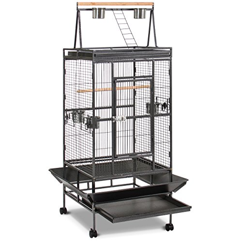 Best Choice Products New Large Play Top Bird Cage Parrot Finch Macaw Cockatoo Birdcages (Playtop Birdcage Bird)