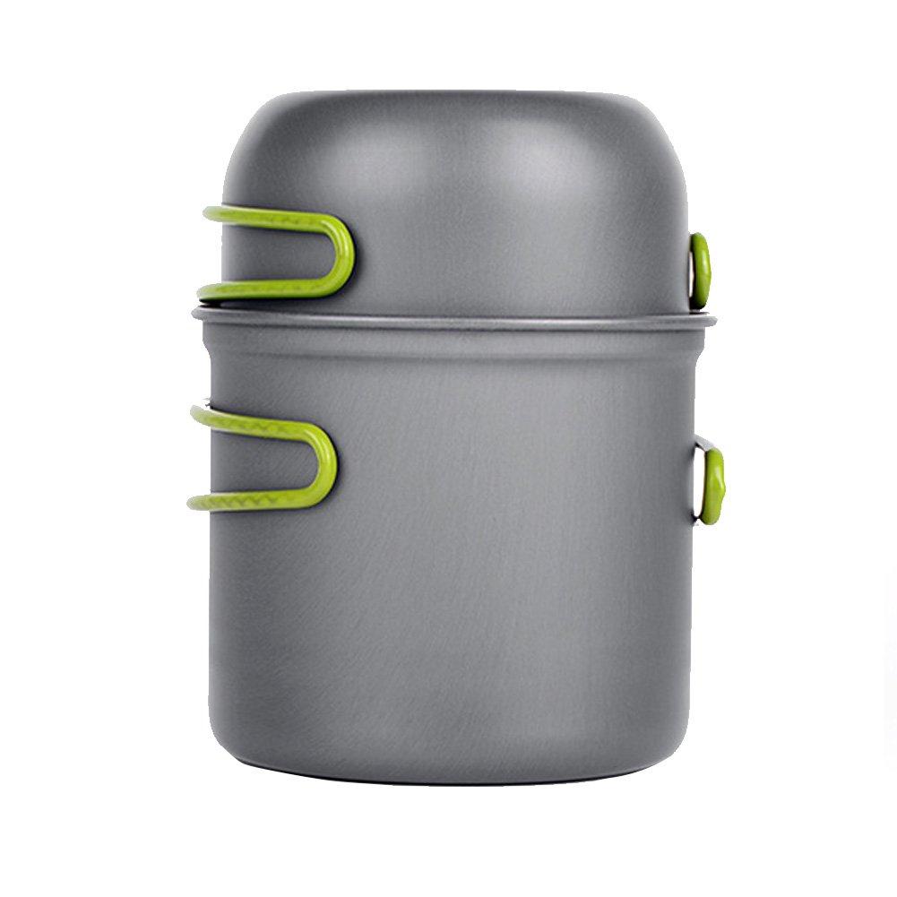 Homieco Outdoor Camping Cookware Hiking Picnic Backpacking Tableware Lightweight Picnic Bowl Pot Pan Set
