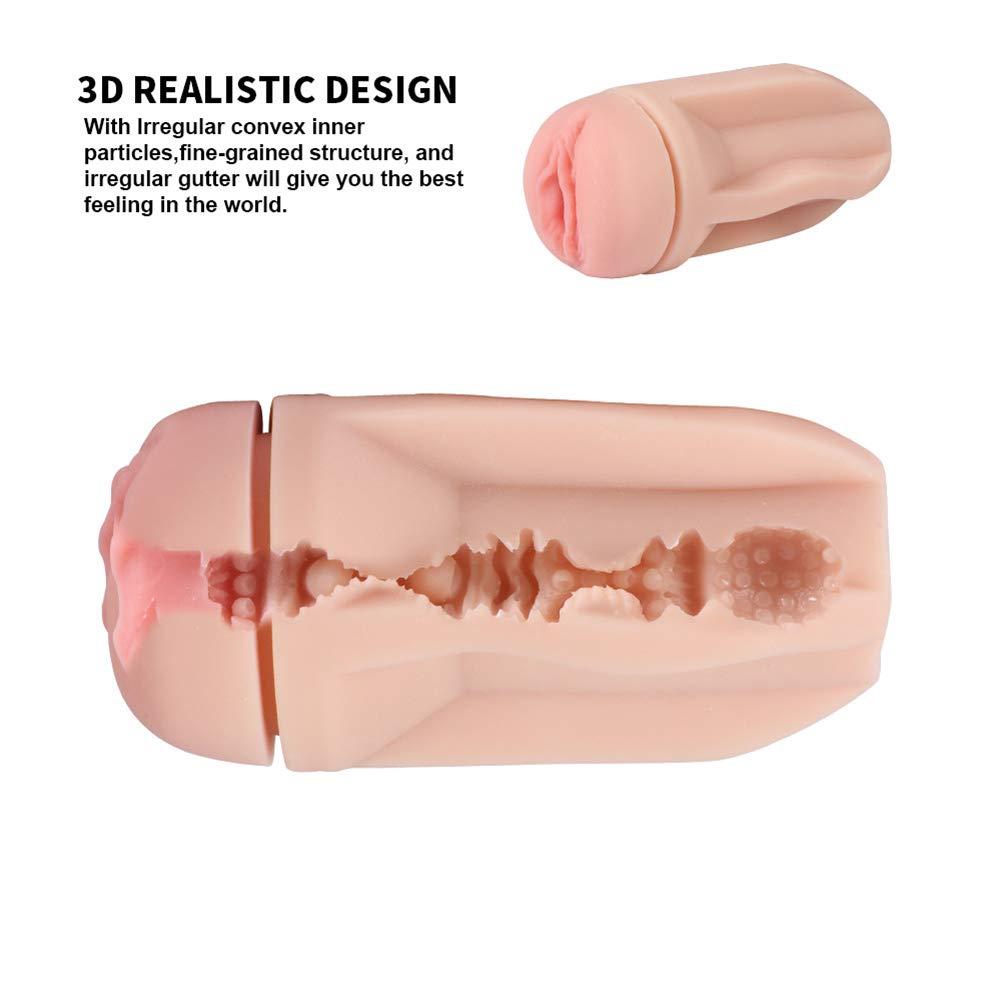 Male Masturbators Cup Adult Sex Toys Realistic Textured Pocket Vagina Pussy Man Masturbation Real-Life Touch Feeling
