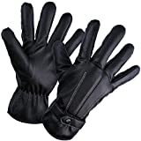 HIG Mens Winter Gloves Touch Screen Windproof Outdoor Cycling Sports Warm Gloves, Fleece Lining