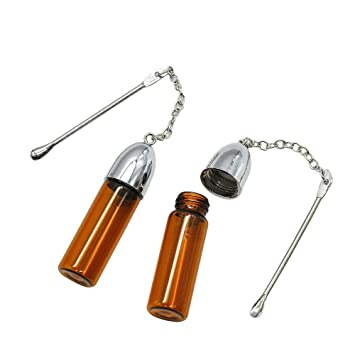 Amazon com: 57mm Glass Snuff Dispenser with Spoon Bullet