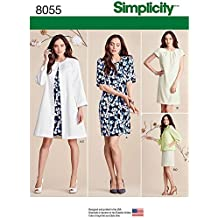 Simplicity Patterns Misses' Dress and Coat or Jacket Size: K5 (8-10-12-14-16), 8055