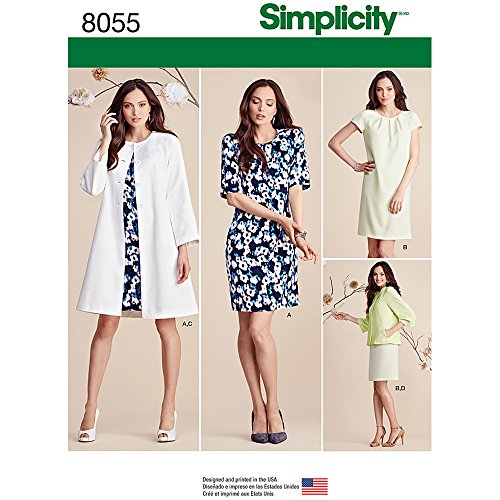Simplicity Patterns Misses' Dress and Coat or Jacket Size...