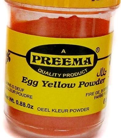 Amazon.com : Preema Egg Yellow Color Powder - 25g : Food Coloring ...