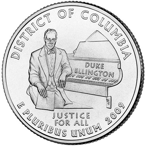 2009 S Clad Proof District of Columbia Territory Quarter Choice Uncirculated US Mint ()