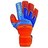 Reusch Soccer Reusch Prisma Deluxe G3 Ortho Tec Goalkeeper Glove-Size Prisma Deluxe G3 Ortho Tec Goalkeeper Glove, Orange/Blue, 8