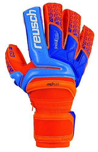 愛国的な頑張るサンダー(11) - Reusch Prisma Deluxe G3 Ortho Tec Goalkeeper Glove, Orange/Blue