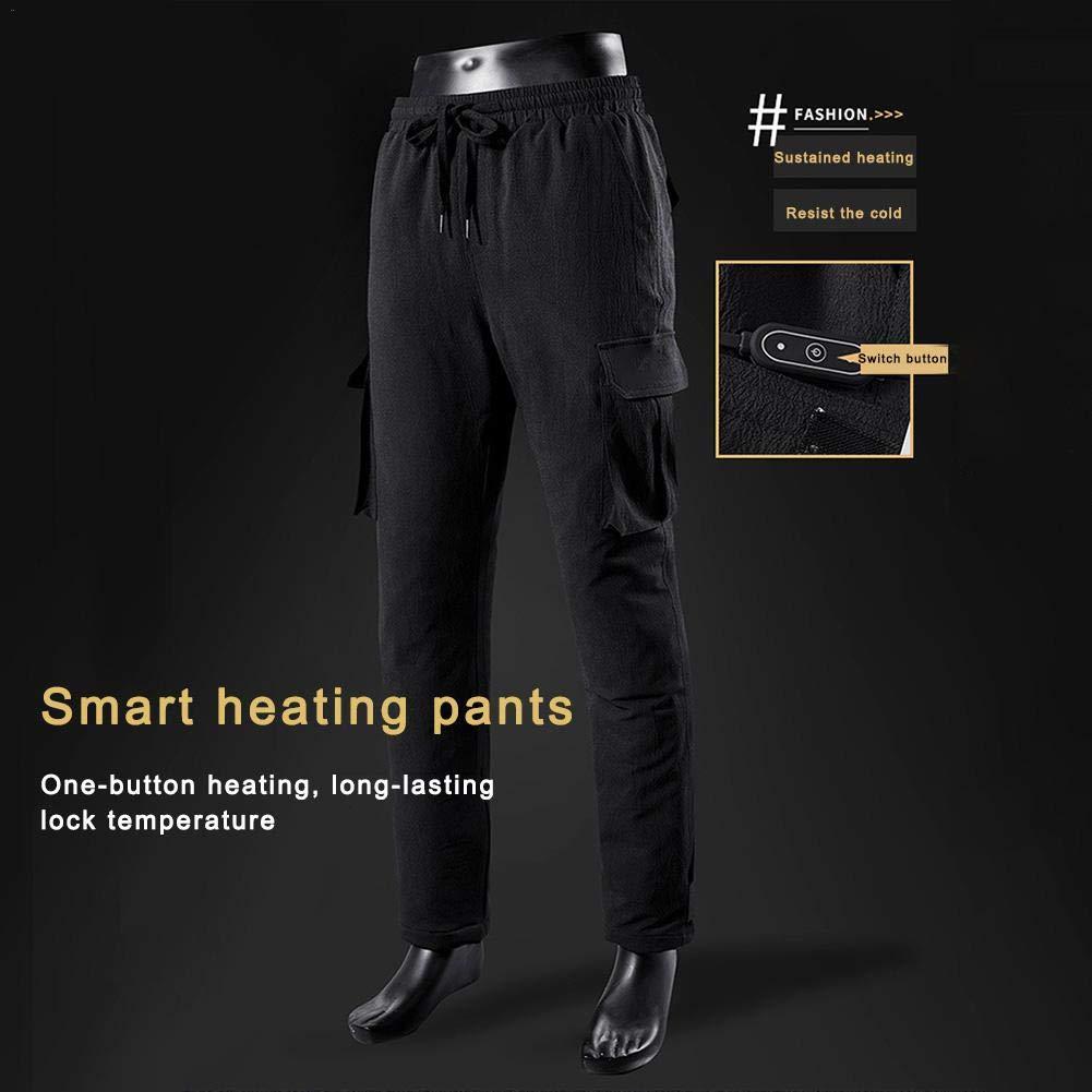 Pantaloni Riscaldanti Termici Lavabili Pantaloni Caldi Invernali Da Uomo In Velluto Di Cotone Pantaloni Riscaldanti Elettrici USB Con Temperatura Regolabile A 3 Marce Pantaloni Riscaldati