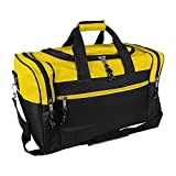17'' Blank Duffle Bag Duffel Travel Camping Outdoor Sports Gym Accessories Bag (FREE RETURN) Gold