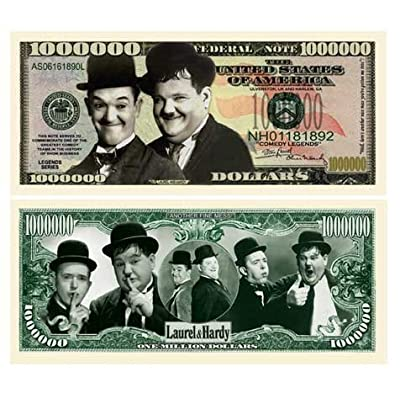 American Art Classics Laurel and Hardy Million Dollar Bill - (Pack of 5) - Best Gift for Lovers of This Comedy Duo: Toys & Games [5Bkhe0301410]