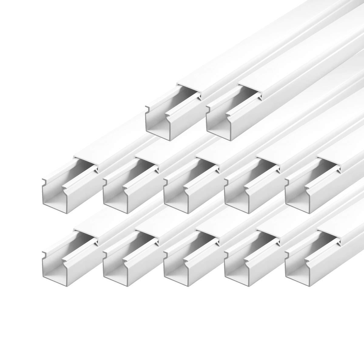 Kabelkanal schraubbar 25 x 25 mm PVC 12m Wand und Decken Montage