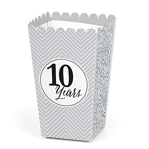 We Still Do - 10th Wedding Anniversary - Anniversary Party Favor Popcorn Treat Boxes - Set of 12 ()
