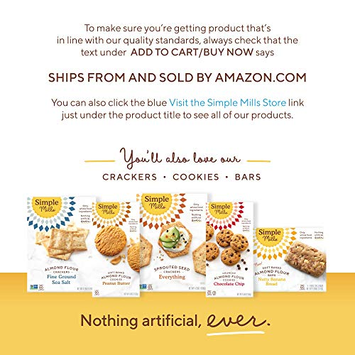 Simple Mills Almond Flour Baking Mix, Gluten Free Artisan Bread Mix, Made with whole foods, 3 Count (Packaging May Vary) 7