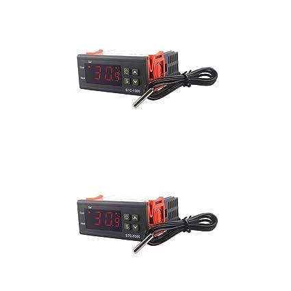 gazechimp 2x Termostato De Controlador De Temperatura Digital De ...