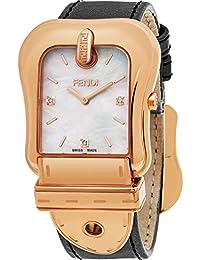 Fendi Women's 'B.' Swiss Quartz Gold and Leather Dress Watch, Color:Brown (Model: F380514521D1)