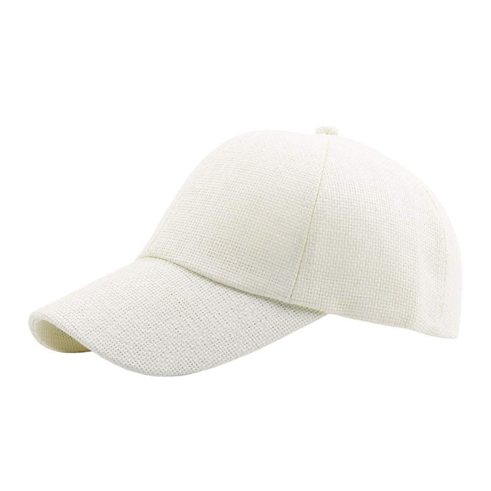 Cap Weejb Summer Sun Hat Baseball Cap Lady Mens Straw Breathable Solid Color Curved Baseball Cap Ms