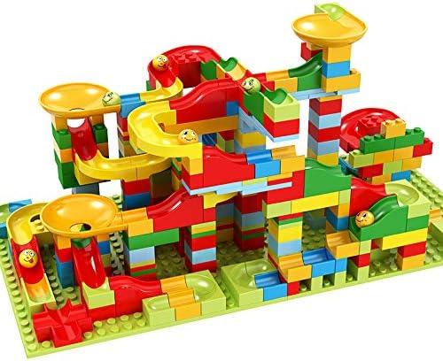 Auch 330 Small Pieces Marble laufen Building Blocks Construction Toys Satz Race Track für Kids Marble Roller Coaster
