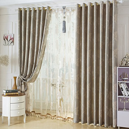 DULPLAY European Blackout curtain Room darkening Window panels Grommet Set of 1 panels Thermal insulating For window treatmen-A 400x270cm(157x106inch) (Window Treatmens)