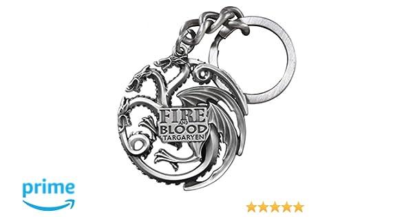 Game Of Thrones – Puerta Llaves casa/House Targaryen Silver Color 10 cm