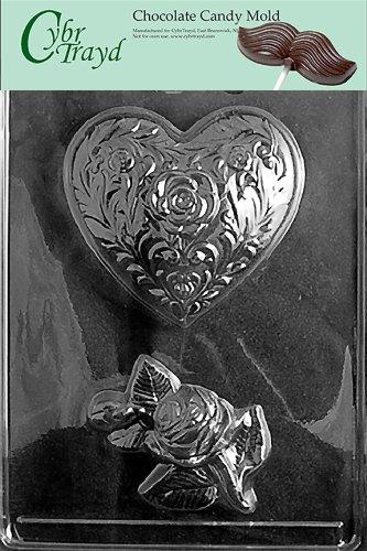 Cybrtrayd V137 Triple Heart Pretzel Valentine Chocolate Candy Mold