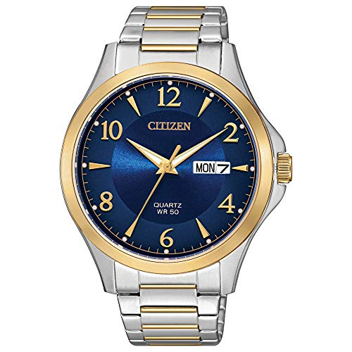 Citizen Men's Japanese-Quartz Stainless-Steel Strap, Two Tone, 17 Casual Watch (Model: BF2005-54L)