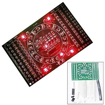 Bellong DIY Kit SMD Giratorio Intermitente componentes LED Soldador Práctica Placa para Habilidades Circuito electrónico Formación Suite: Amazon.es: ...