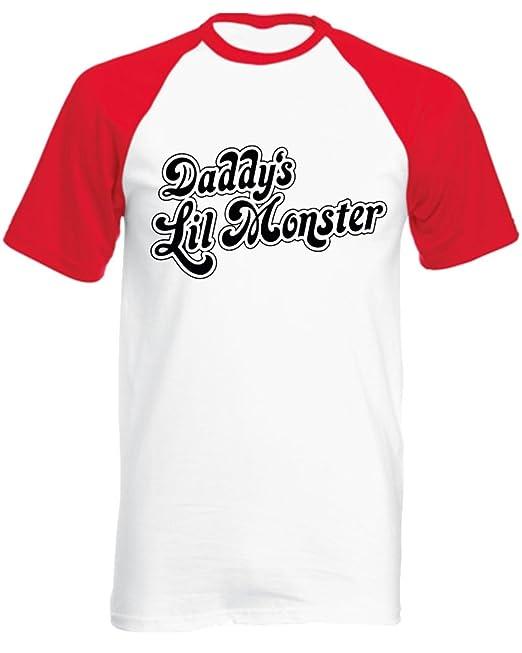 Camiseta de béisbol «Daddys Lil Monster» unisex de manga corta,