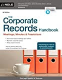 img - for The Corporate Records Handbook: Meetings, Minutes & Resolutions by Mancuso, Anthony (July 31, 2013) Paperback book / textbook / text book