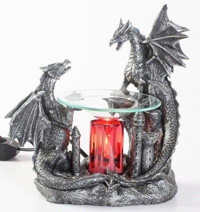Double Black Dragon Poly Resin Warmer