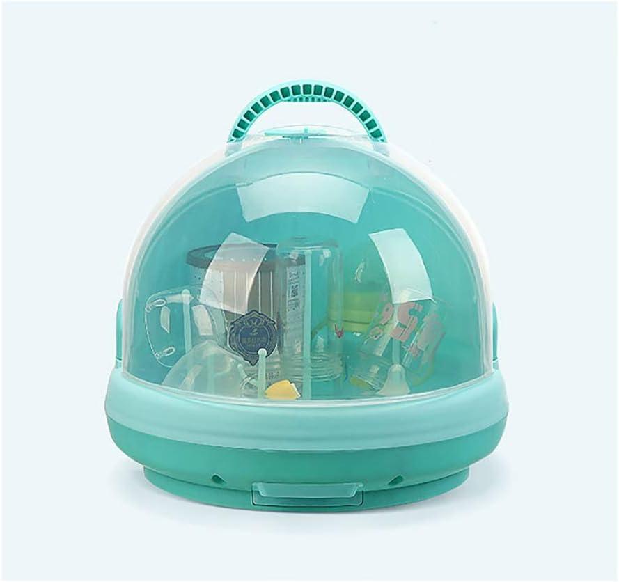 Bottle Drying Racks with Anti-dust Cover Storage Box Baby/'s Dinnerware Organizer