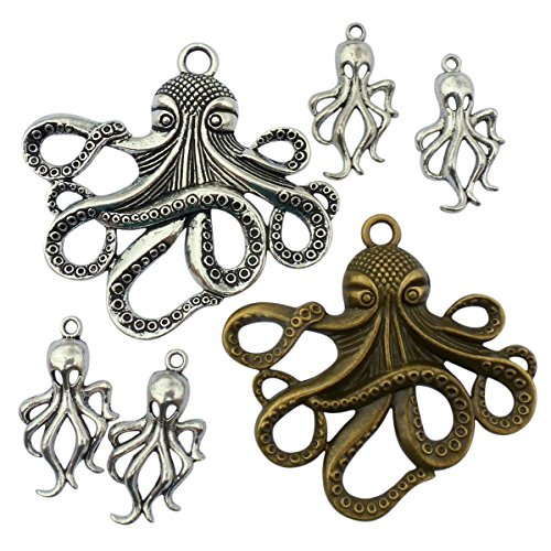 Steampunk Octopus charms DIY | Victorian Style, Gold Silver Finish Handmade Pirate Accessory