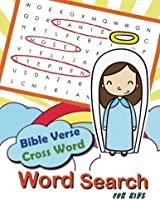 Bible Verse Cross Word Word Search For Kids: Word