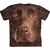 The Mountain Men's Chocolate Lab Face T-Shirt, Brown, Small