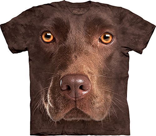 The Mountain Men's Chocolate Lab Face T-Shirt, Brown, Large (Chocolate Labs)