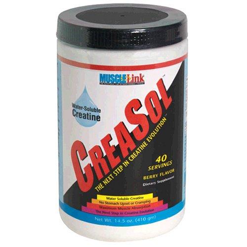 Soluble dans l'eau CreaSol Muscle-Link créatine, supplément de créatine, Berry, 14,5 onces