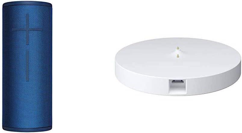 Ultimate Ears Boom 3 Altavoz Portátil Inalámbrico Bluetooth + Base de Carga Power Up, Graves Profundos, Impermeable, Flotante, Conexión Múltiple, Batería de 15 h, color Azul