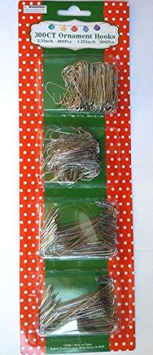 Silver Ornament Hooks (Silver Ornament Hooks Pack Of 300)