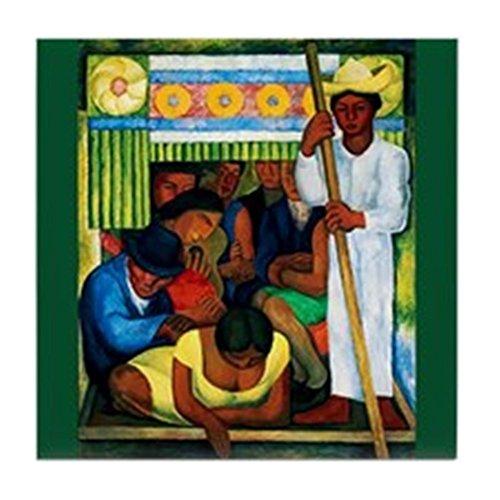 CafePress - Diego Rivera Flower Canoe Art Tile Coaster - Tile Coaster, Drink Coaster, Small Trivet