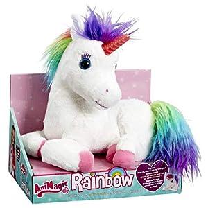 Animagic Rainbow – My Glowing Unicorn, a Soft Unicorn Plush Toy with Glowing Horn and Unicorn Sounds